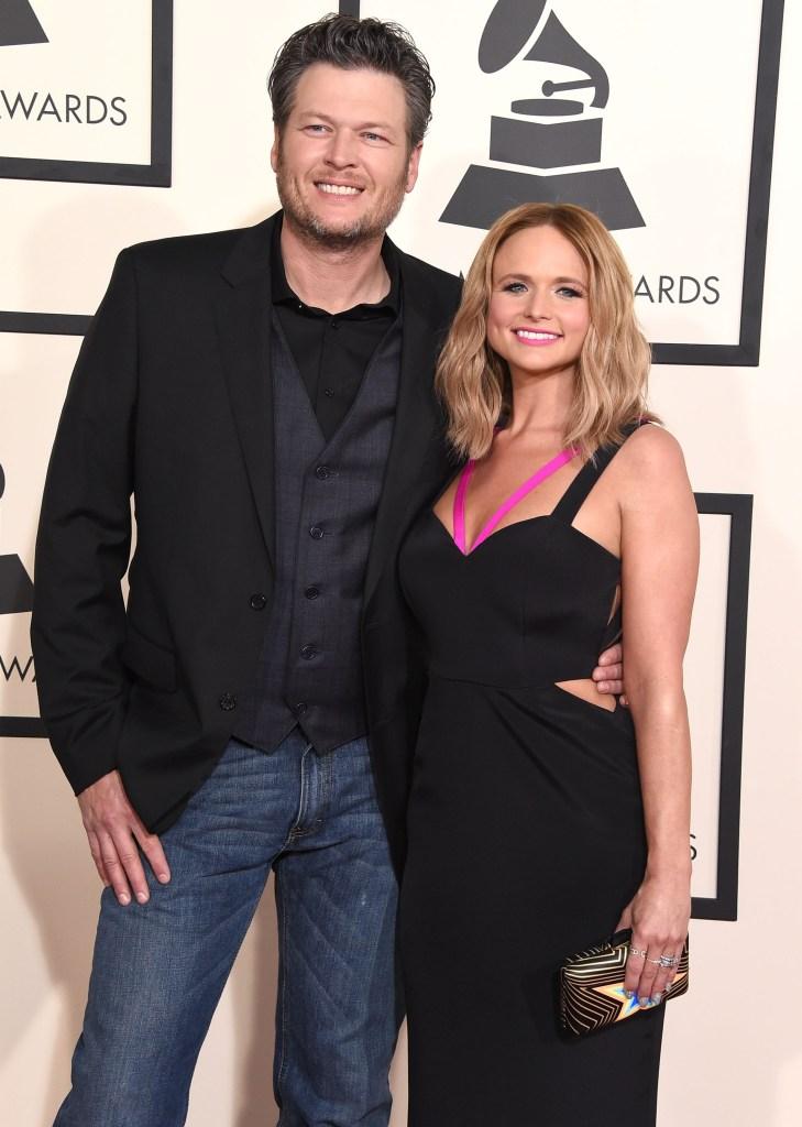 Blake and Miranda at an event