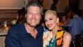 Blake Shelton and Gwen Stefani smiling