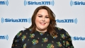 Chrissy Metz wearing a flower dress at Sirius XM studios in NYC