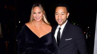 Chrissy Teigen and John Legend at night