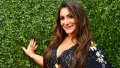 Deena Cortese, Smiling, Floral Black Dress, Red Carpet