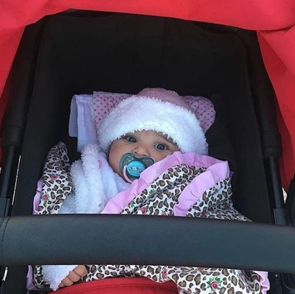 Dream in her stroller