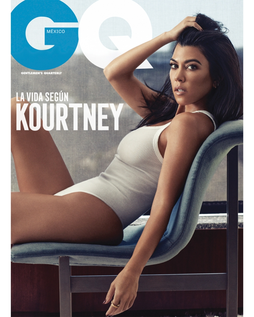 Kourtney Kardashian on the cover of GQ Mexico