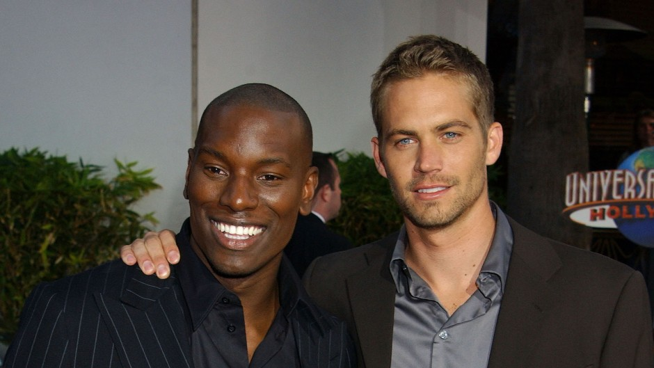 Paul Walker and Tyrese Gibson at a movie premiere together