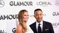 Chrissy Teigen and John Legend attend the Glamour Women of the Year Awards in NYC. Chrissy is wearing white, John is wearing a tuxedo