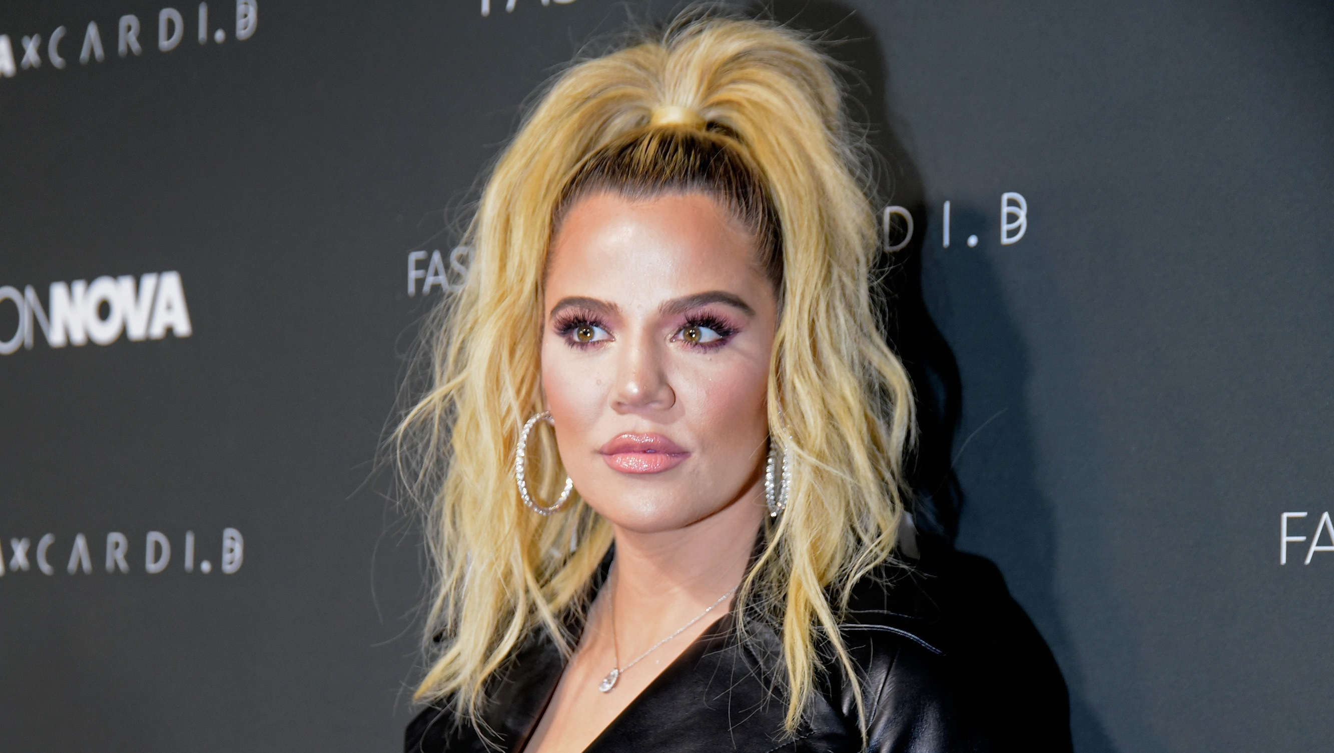 Khloé Kardashian, Posing, Fashion Nova Event, Leather