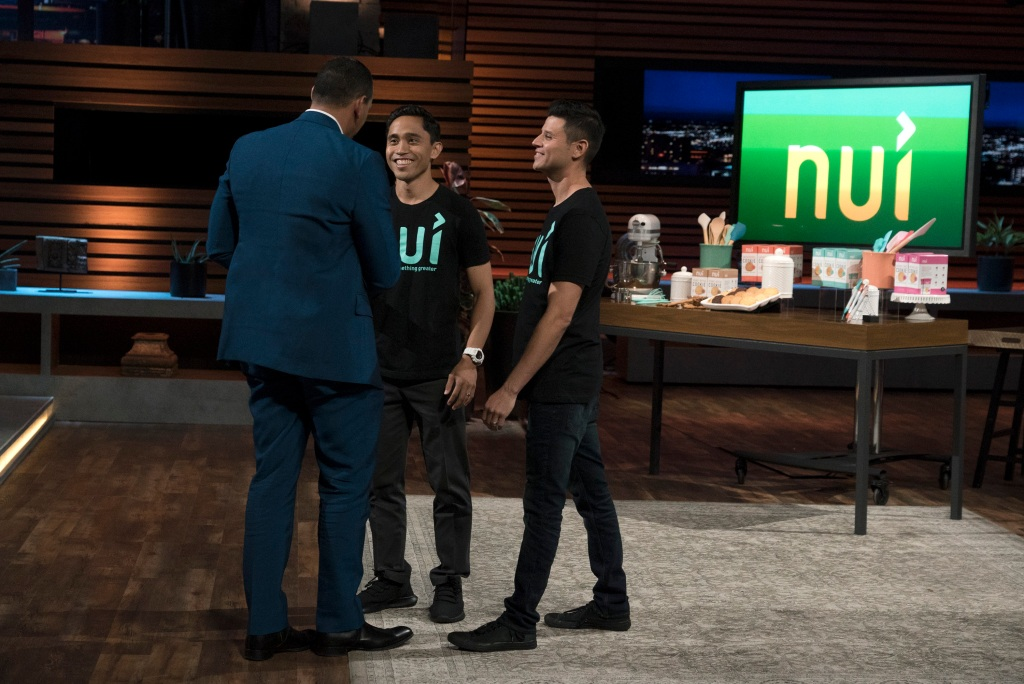 Alex Rodrigues With Nui on Shark Tank
