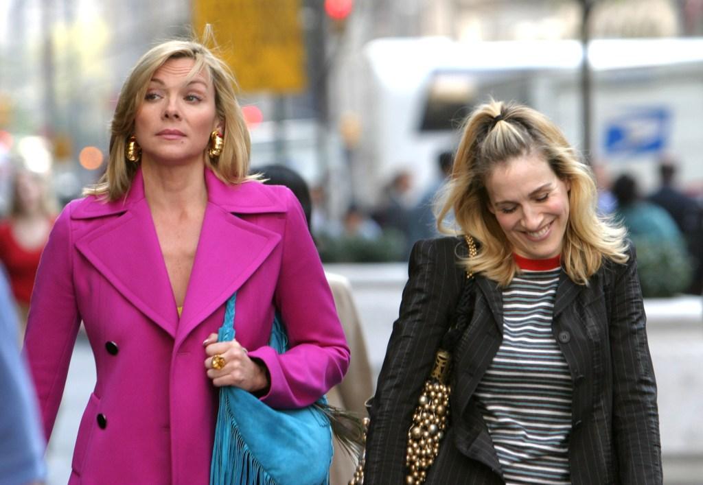 Kim Cattrall, Sarah Jessica Parker, Walking, NYC