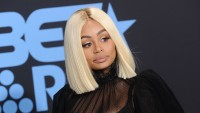 Blac Chyna at an event, wearing blonde hair