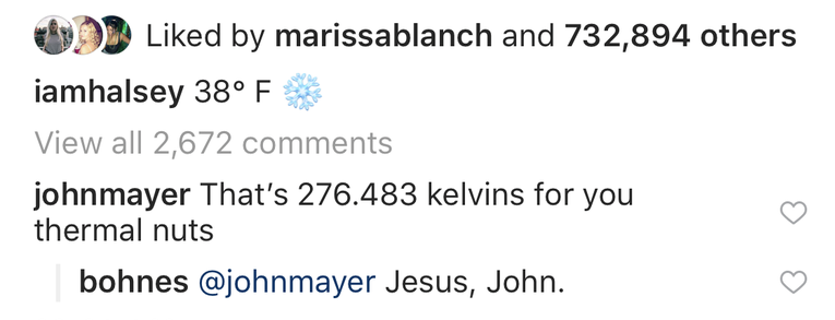 Halsey John Mayer Instagram 2