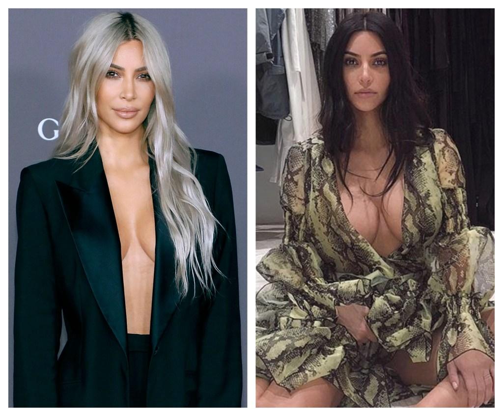 Kim Kardashian, Getty, Instagram, Split