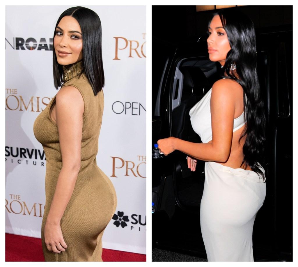Kim Kardashian, Gold Dress, Kim Kardashian, White Dress, Split