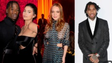 Kylie Jenner, Travis Scott, Lindsay Lohan, Tyga side by side photos
