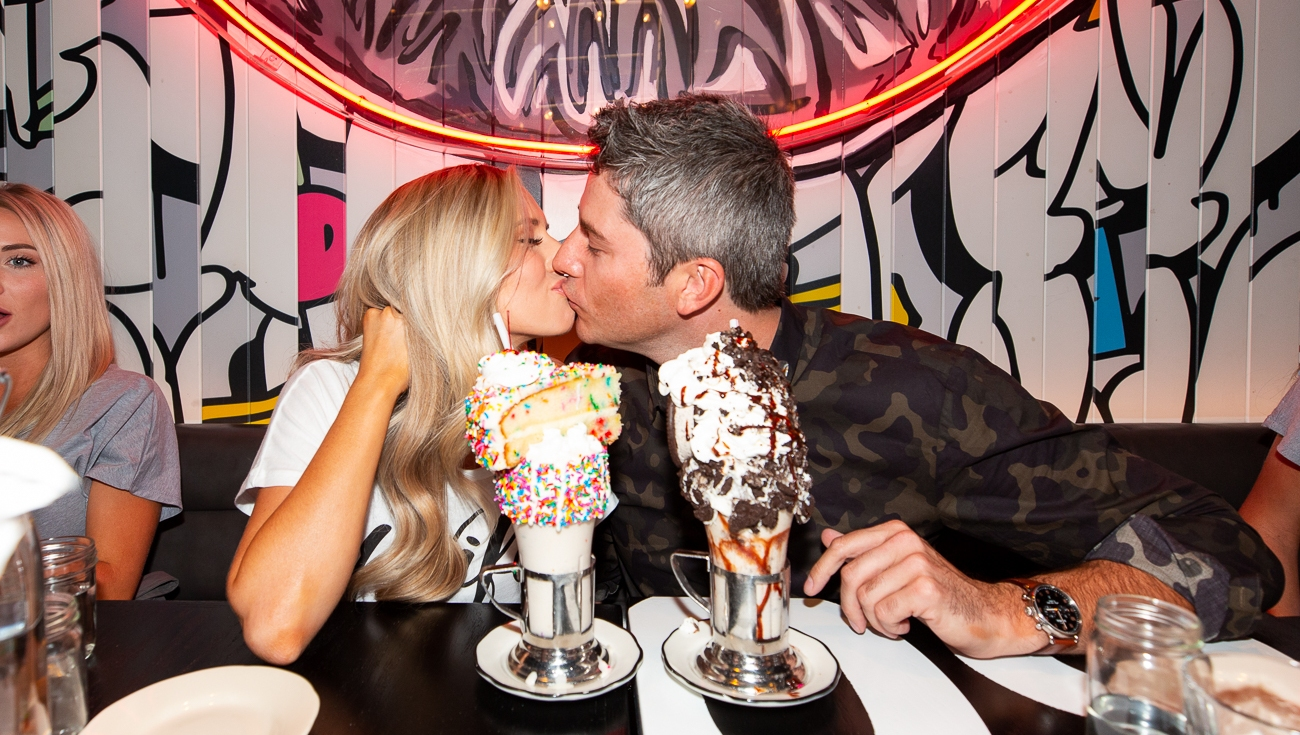 Lauren Burnham and Arie Luyendyk Jr at Black Tap at The Venetian Resort Las Vegas