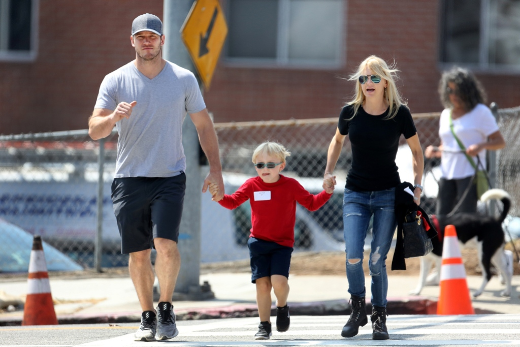 Chris Pratt with son Jack and ex wife Anna Faris