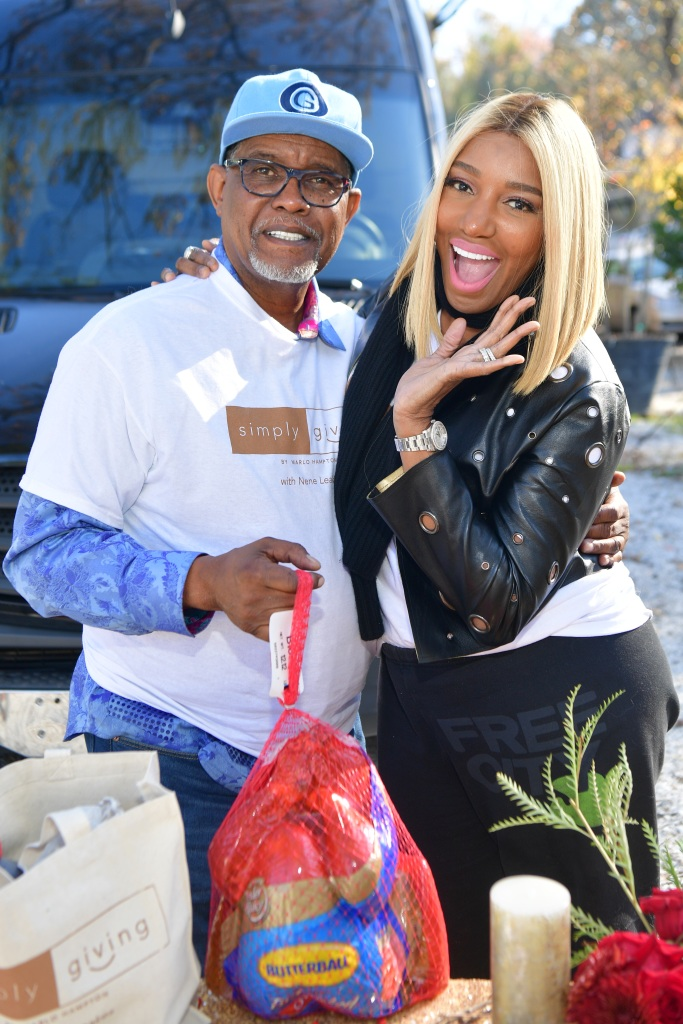 NeNe and her husband Gregg at an event