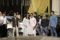 Nick Jonas and Priyanka Chopra at Puju Ceremony