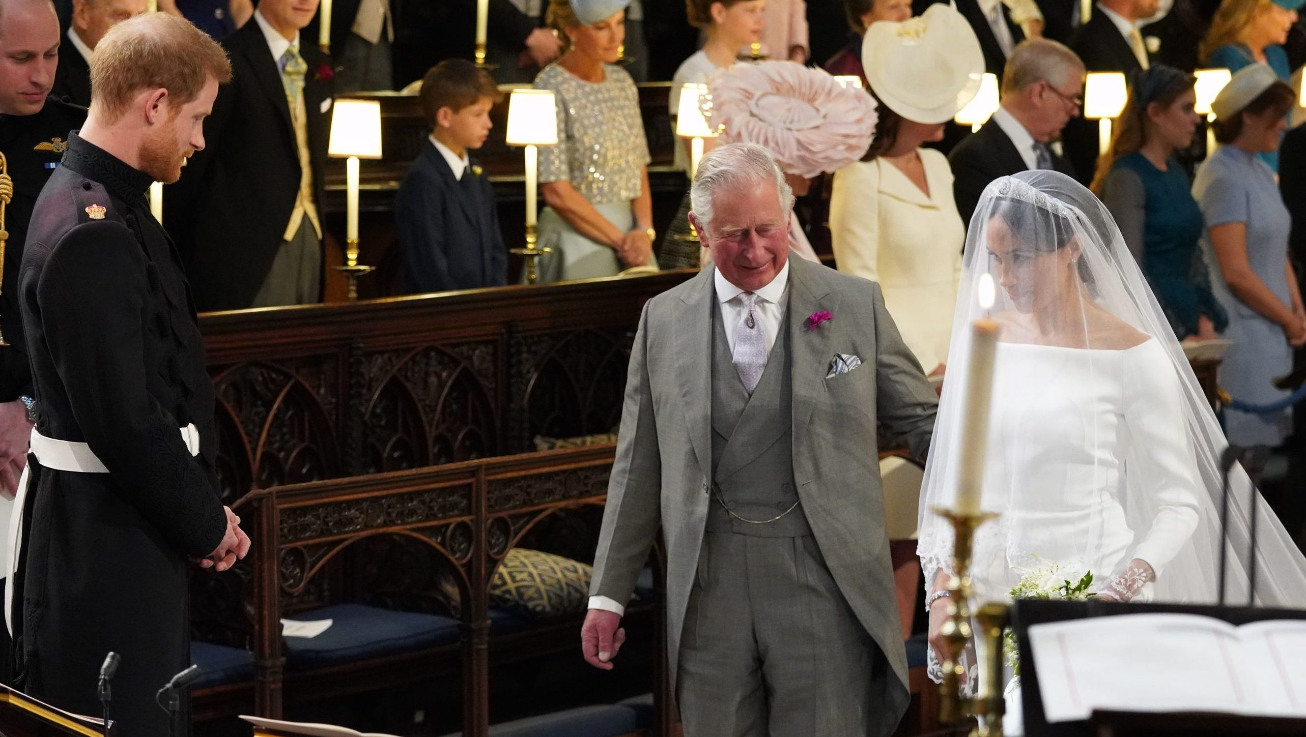 Prince Charles Walking Meghan Markle down the aisle
