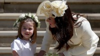 Princess Charlotte and Kate Middleton at the royal wedding