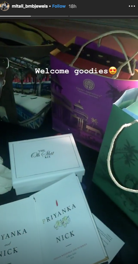 Priyanka and Nick wedding goodies