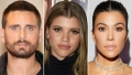 Scott Disick Sofia Richie Kourtney Kardashian dinner