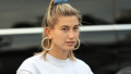 Hailey-Baldwin-Sweatshirt-Hair-Up-Pose