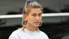Hailey-Baldwin-Sweatshirt-Hair-Up-Pose