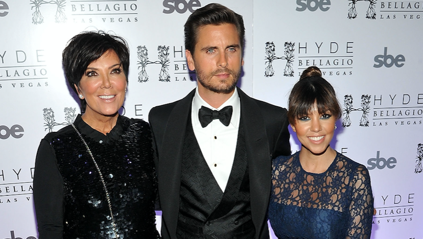 Kris Jenner, Scott Disick, Kourtney Kardashian, Red Carpet, Pose