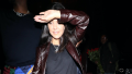 Kourtney Kardashian, Walking, Brown Leather Jacket, Los Angeles