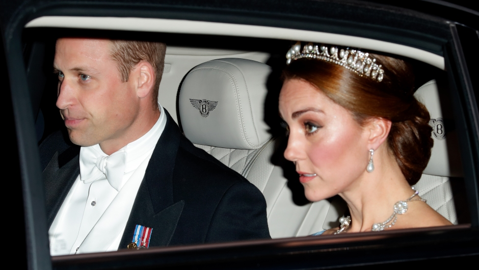 Prince William and Kate in a car