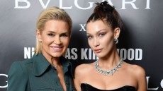 Bella Hadid and Yolanda Hadid VS Fashion Show