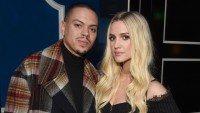 Ashlee Simpson And Husband Evan Ross Smirking At the Camera