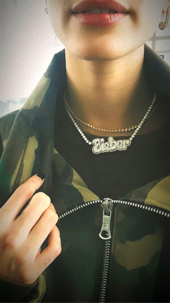 hailey baldwin birthday necklace justin bieber