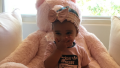 Dream Kardashian in an all pink outfit