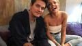 Halsey and John Mayer backstage