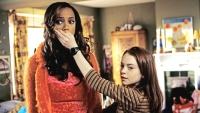 Lindsay Lohan And Tyra Banks In Still From 'Life-Size'
