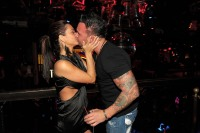 JWoww and Roger kissing wearing all black