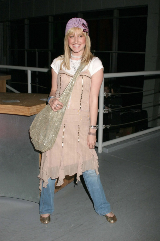 Ashley Tisdale at LA Fashion Week in 2005