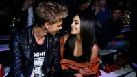 Austin Butler and Vanessa Hudgens at New York Fashion Week