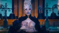 Cardi B and Kulture in 'Money' music video