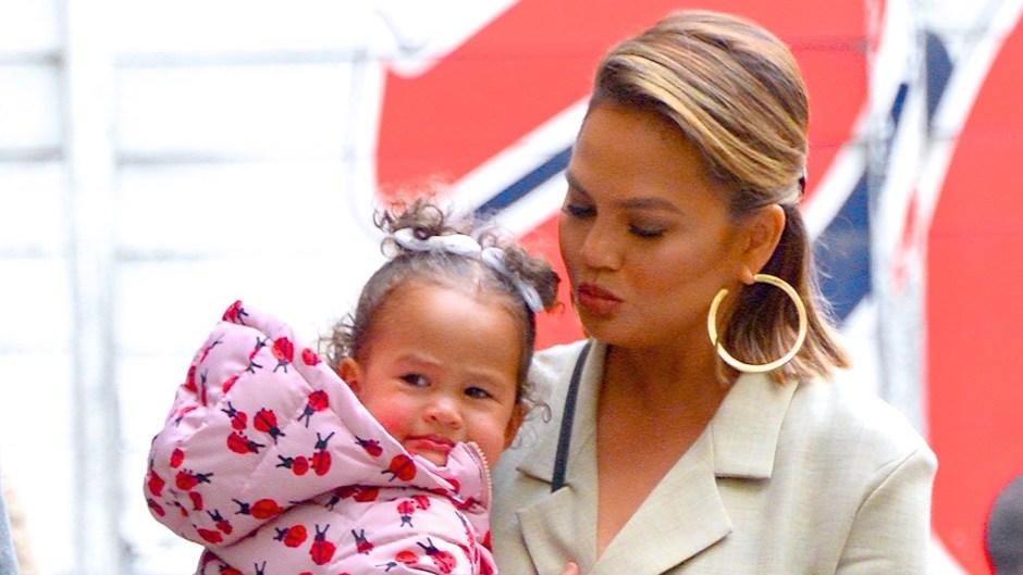 Chrissy Teigen with daughter Luna