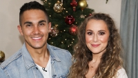 Carlos and Alexa Penavega at an event together