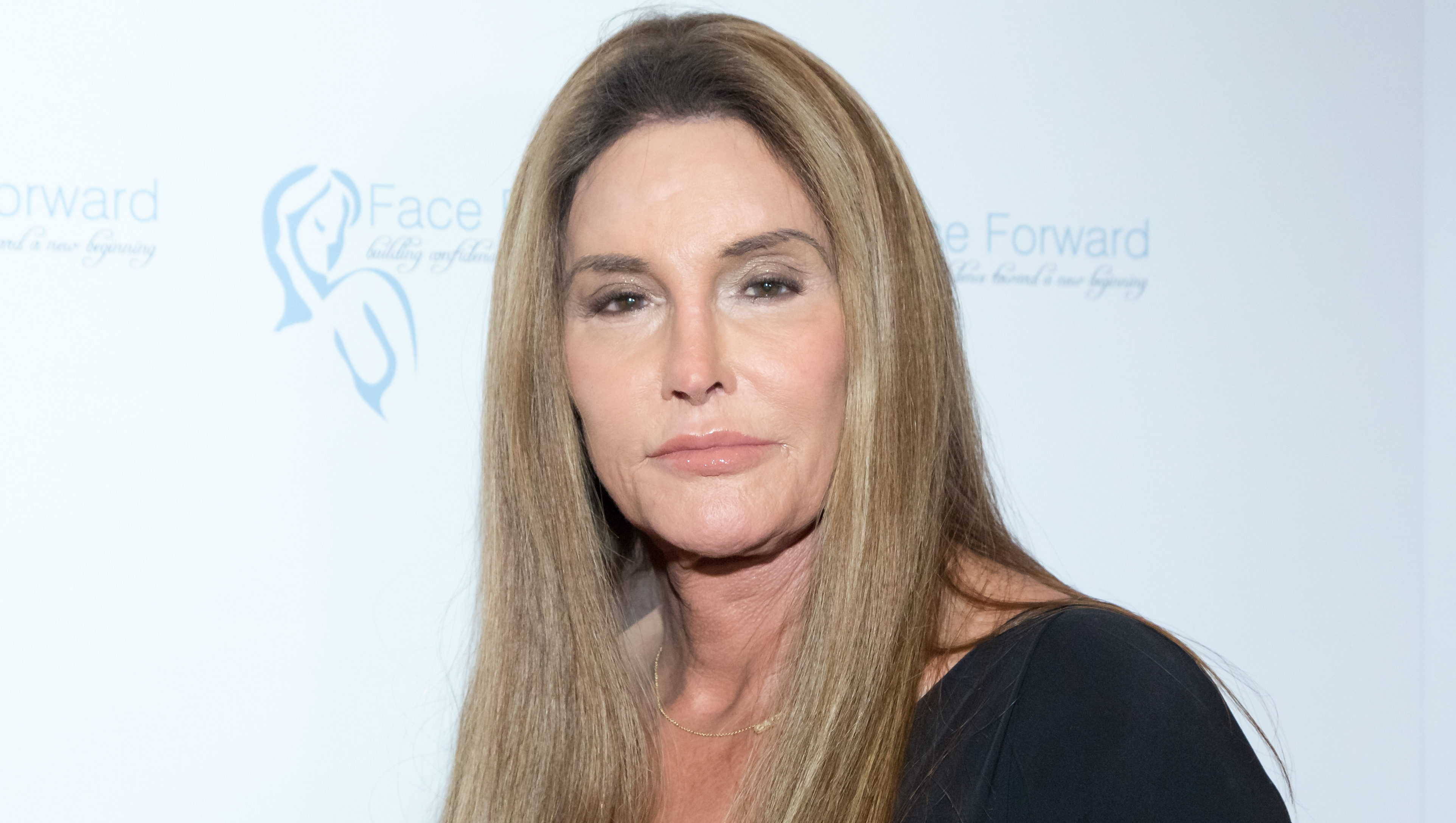 Caitlyn Jenner, Black Dress, Straight Hair, Posing