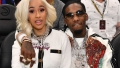 Cardi B and Offset At Atlanta Hawks vs Boston Celtics Basketball Game