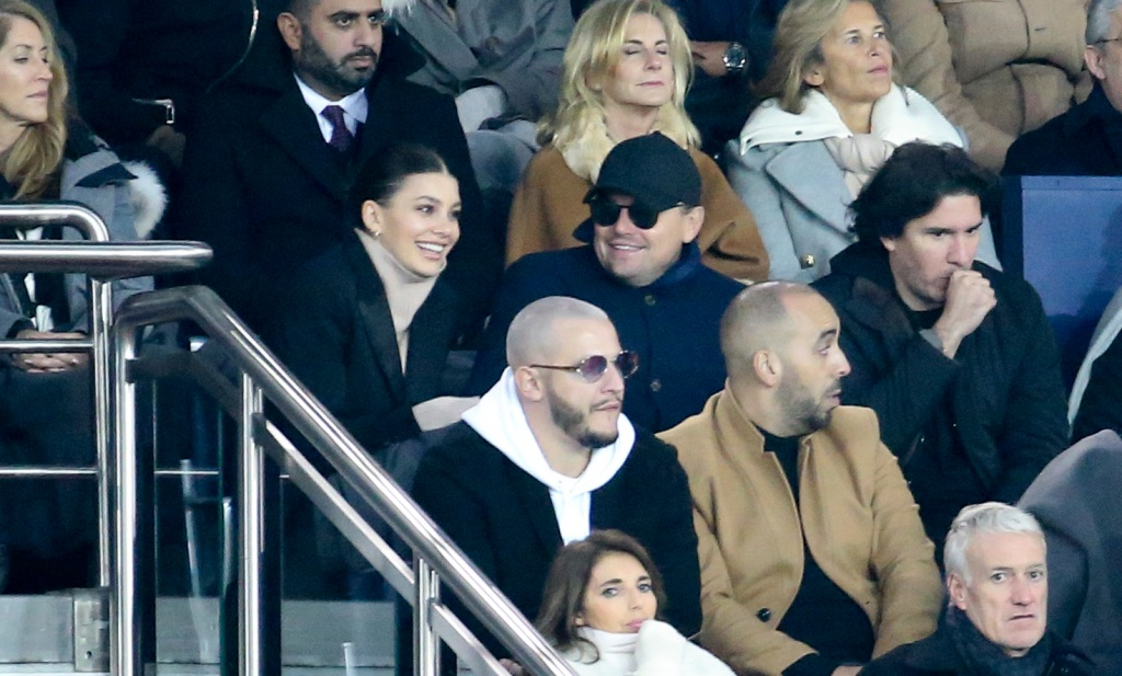 Camila Morrone and Leonardo DiCaprio in France together wearing coats