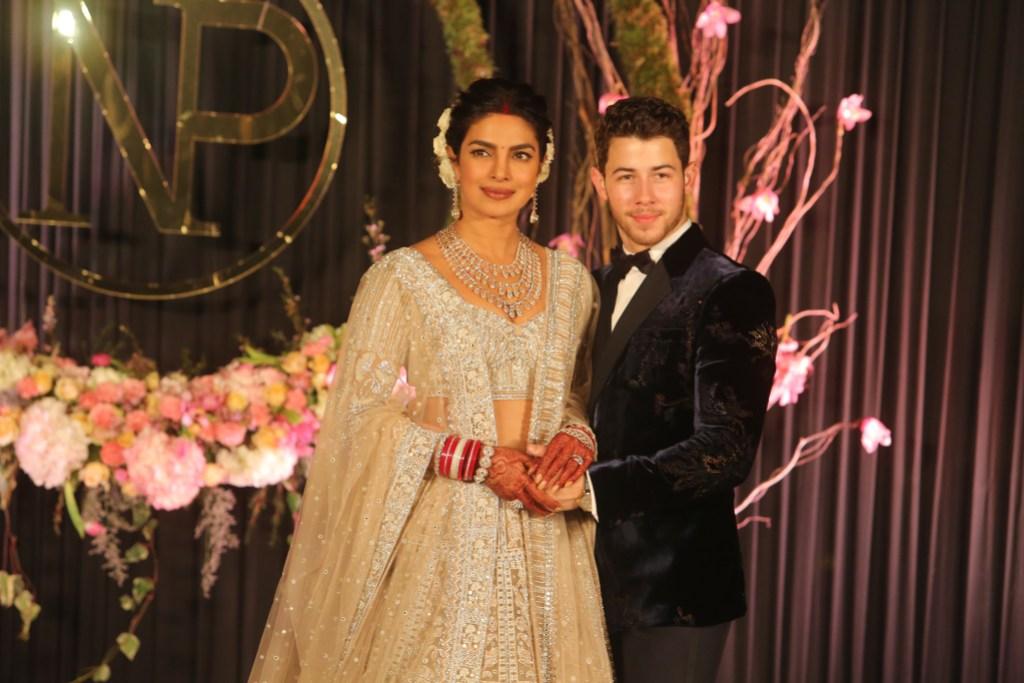 Priyanka Chopra and Nick Jonas at their wedding ceremony