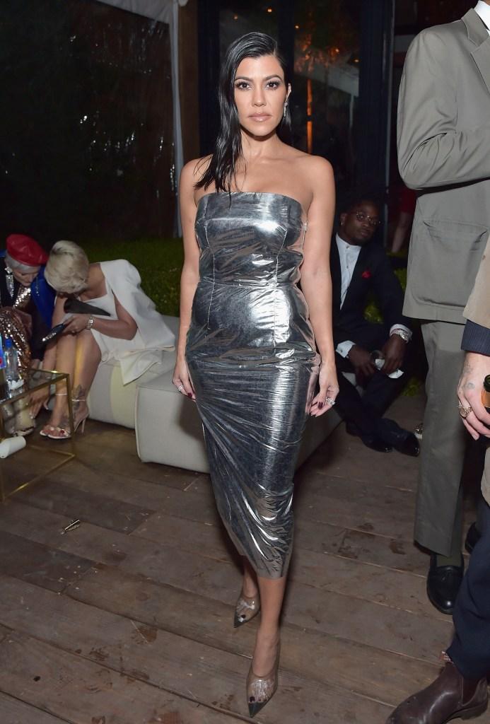 Kourtney Kardashian, GQ Men of the Year Party, Silver Dress