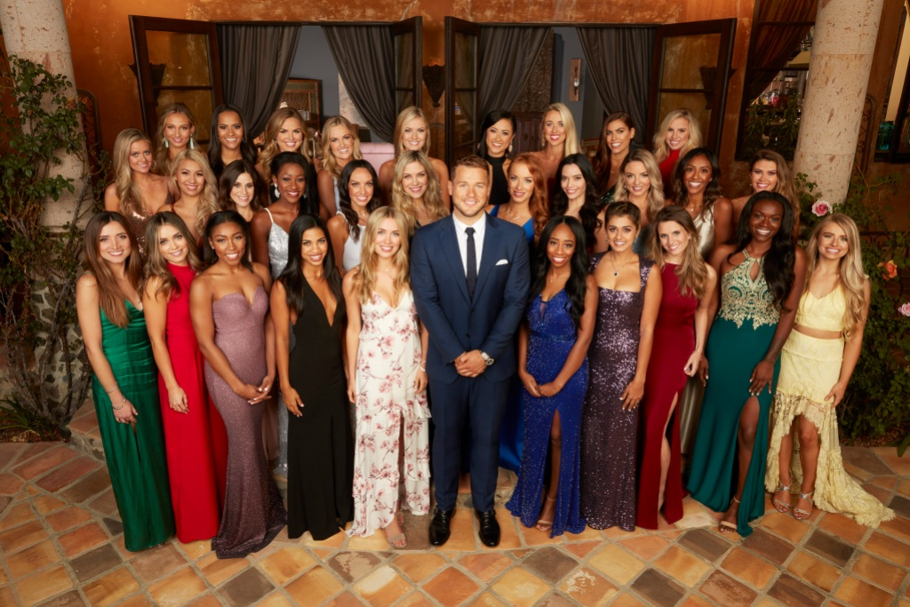 The Bachelor group shot in the mansion