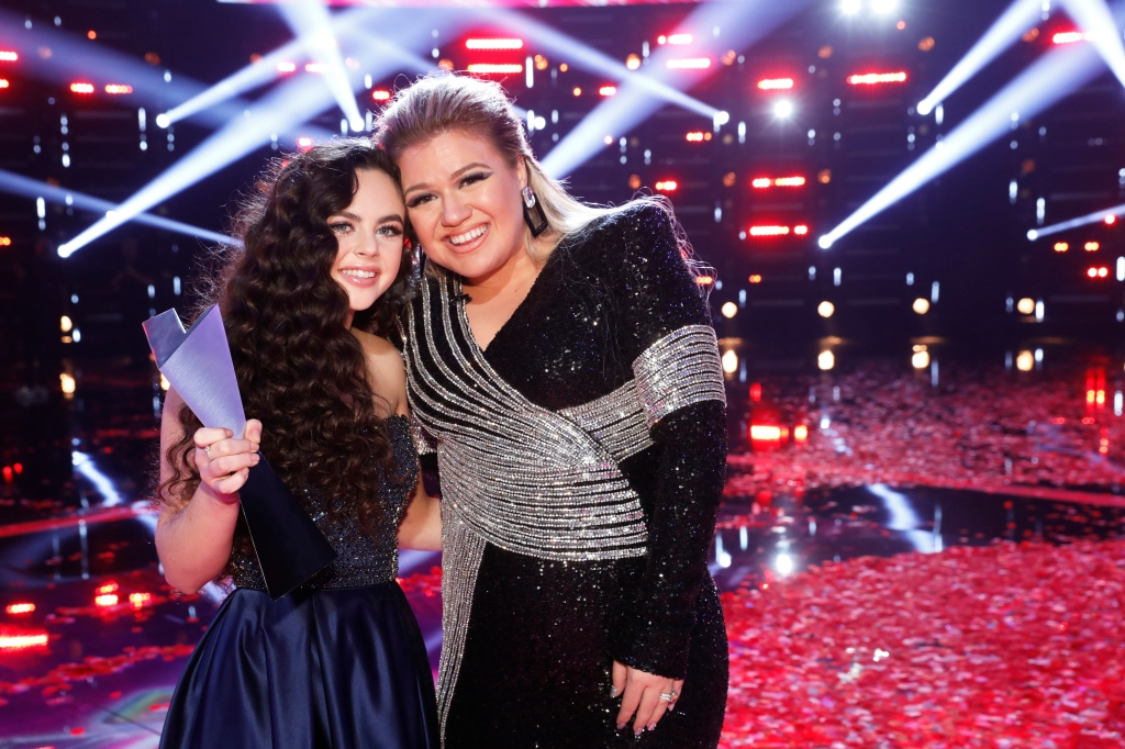 The Voice Season 15 winner Chevel Shepherd and Kelly Clarkson