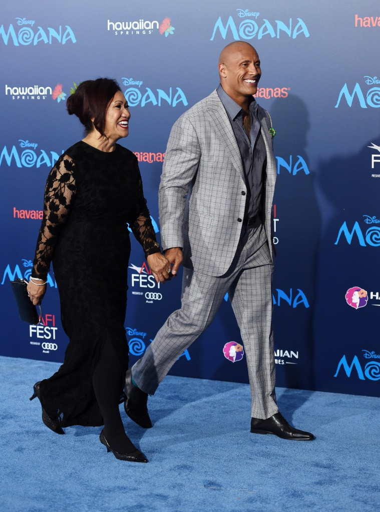 The Rock, His Mom, Walking